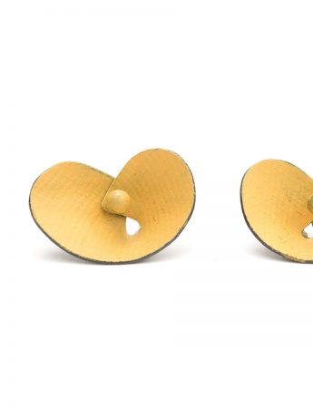 Orchid Stud Earrings - Orange Yellow