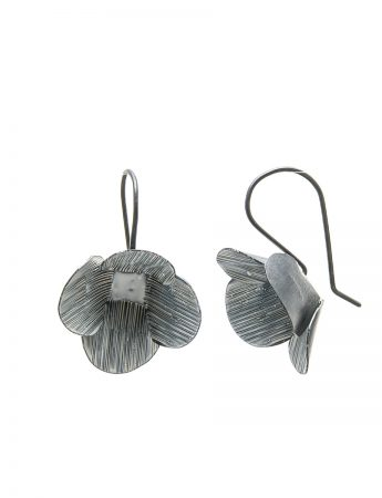 Large Twiggy Weed Earrings - White