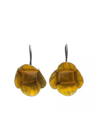 Large Twiggy Weed Earrings - Yellow