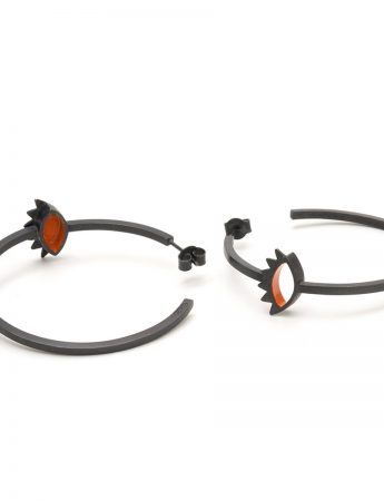 Look Hoop Earrings - Orange