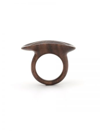 Bone Fold Ring - Walnut