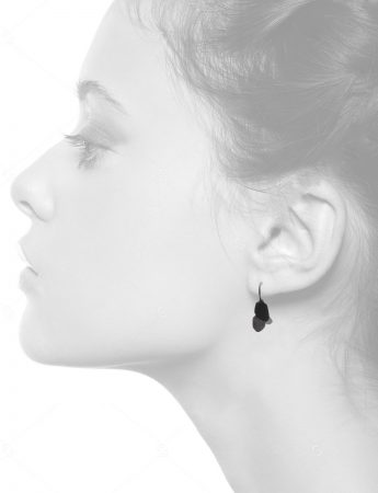 Wisteria 2 Drop Earrings – Black