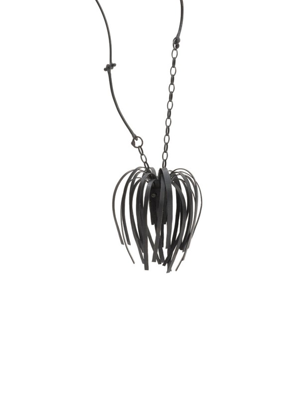 Banksia Necklace – Oxidised Silver