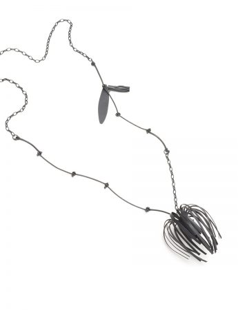 Banksia Necklace - Oxidised Silver