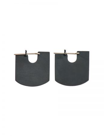 U rule earrings - oxidised