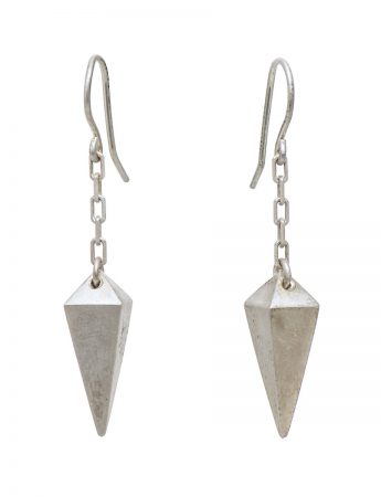 Plummet earrings - silver
