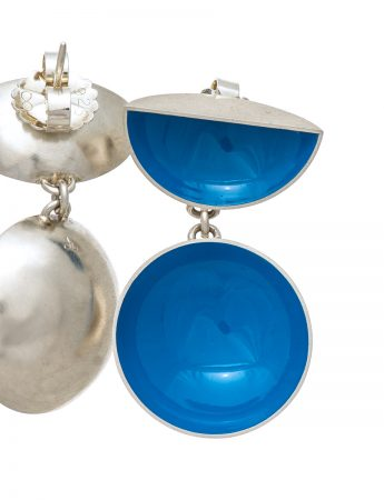 Half Shell & Drop Earrings - Light Blue
