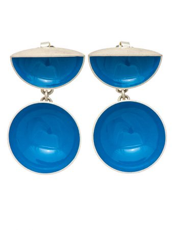 Half Shell & Drop Earrings – Light Blue