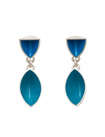 Pod & Point Stud Earrings - Light Blue