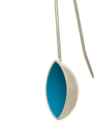 Pod Earrings – Light Blue