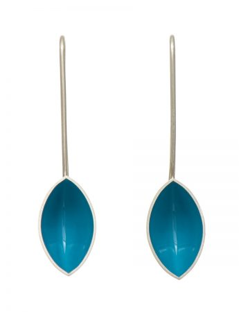 Pod Earrings - Light Blue