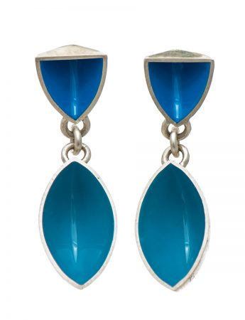 Pod & Point Earrings - Light Blue