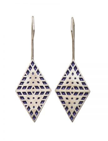 Amplify 2D hook earrings - purple