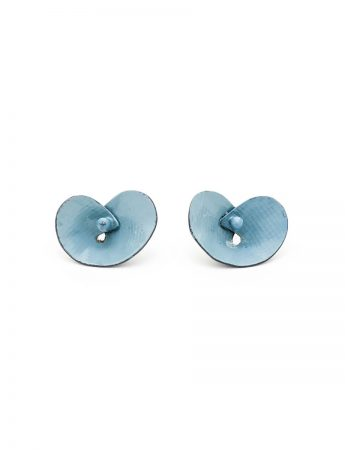 Orchid Stud Earrings - Blue