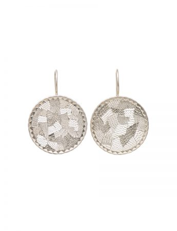 Pearlite circle earrings - large
