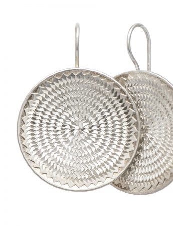 Ripple circle earrings – large