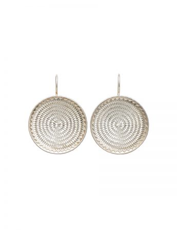Ripple circle earrings - large