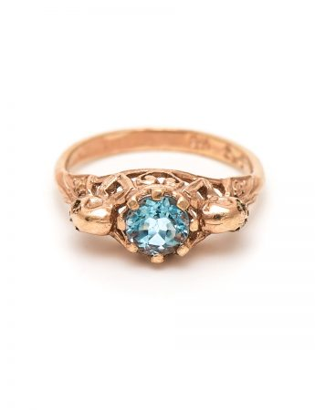 Rose Gold Loyalty Ring - Aquamarine