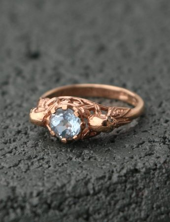 Rose Gold Loyalty Ring – Aquamarine