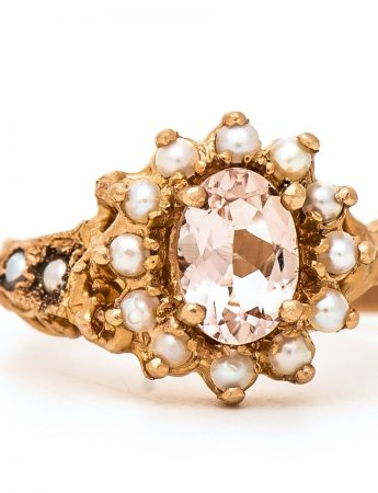 Rose Gold Queenie ring - Morganite