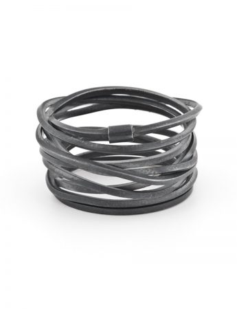Coil Ring - Oxidised Sterling Silver