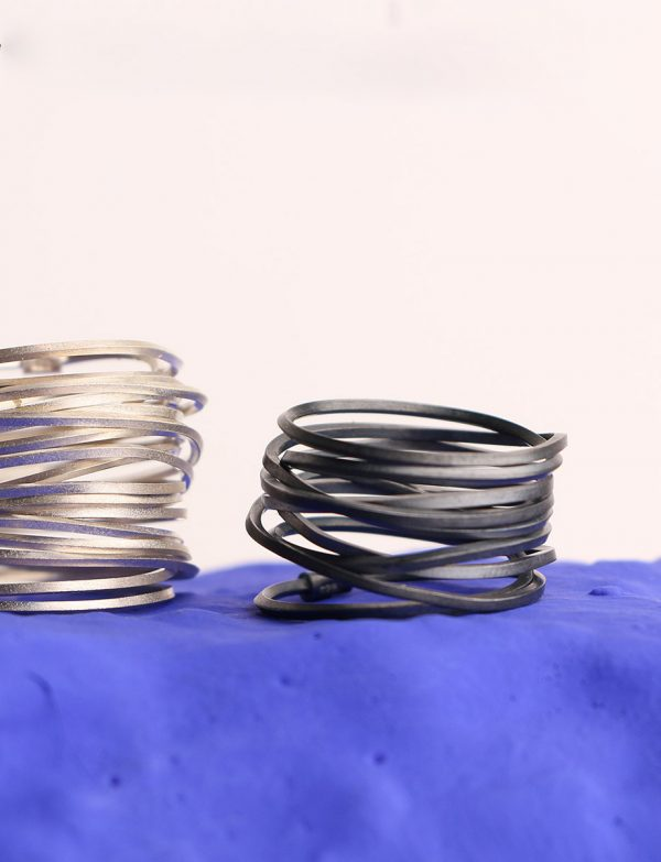 Coil Ring – Oxidised Sterling Silver