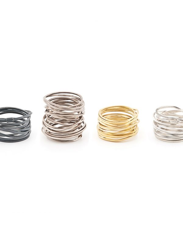 Ultracoil Ring – Oxidised Silver