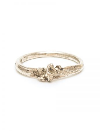 Bone Ring - Polished Silver