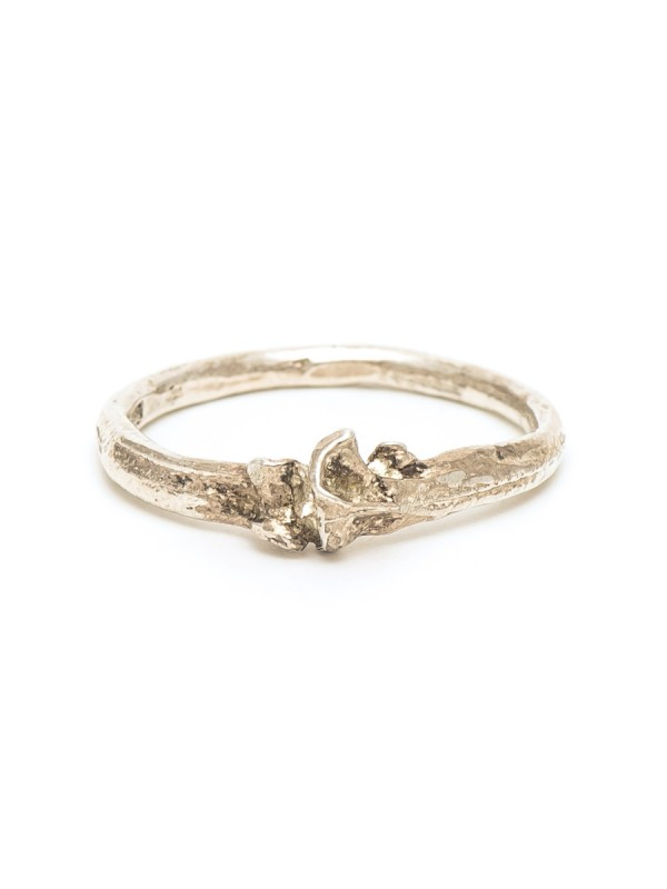 Bone Ring – Polished Silver