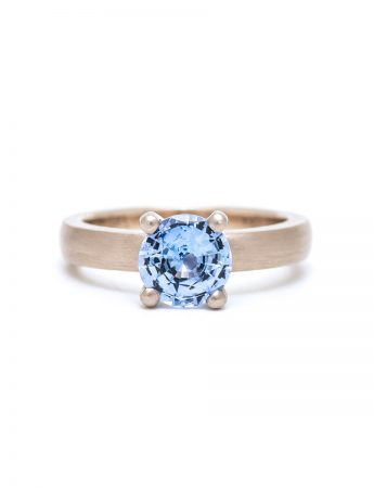 Brilliant Solitaire Ring - Cornflower Blue Sapphire