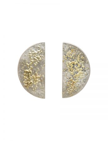 Galaxy Planet Stud Earrings - Silver