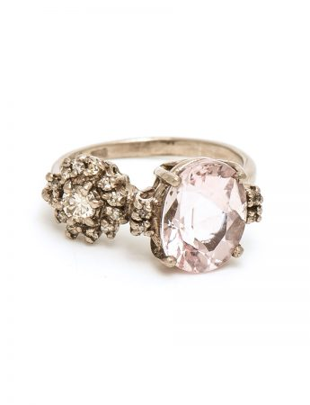 Double Eclipse Ring - Pink Morganite