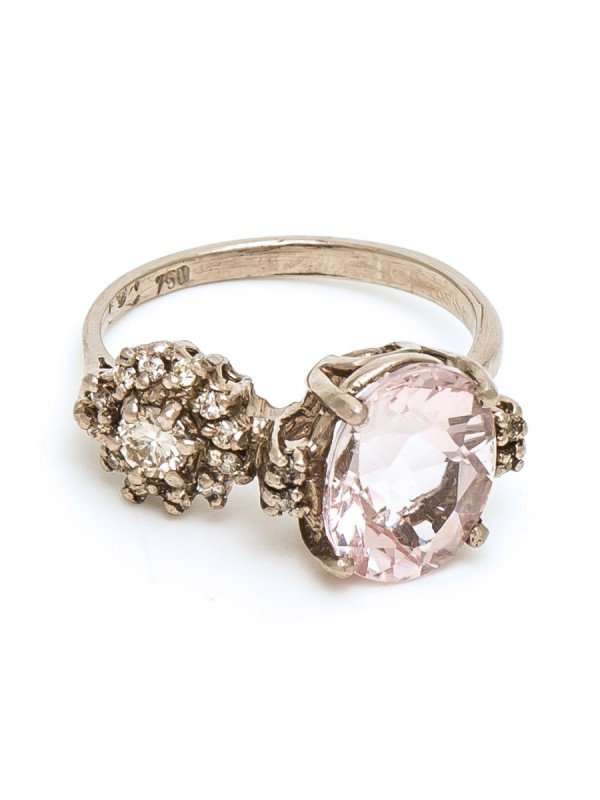 Double Eclipse Ring – Pink Morganite