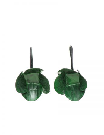 Large Twiggy Weed Earrings - Green
