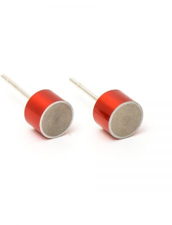 Station Earrings – Red
