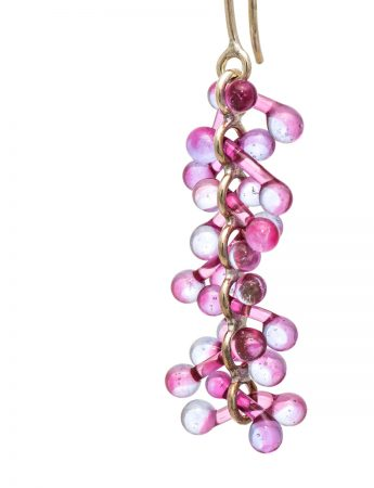 Loose Glass Earrings - Pink