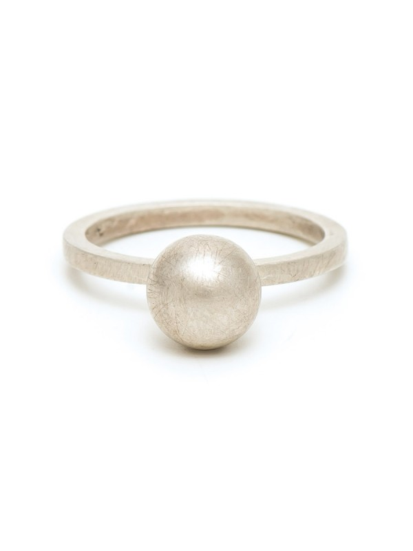 Sphere Ring – Matte Silver