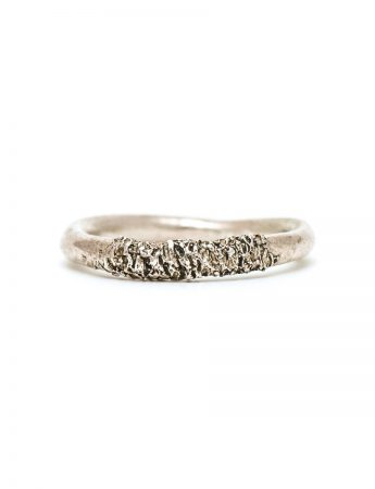 Stippled Ring - Silver