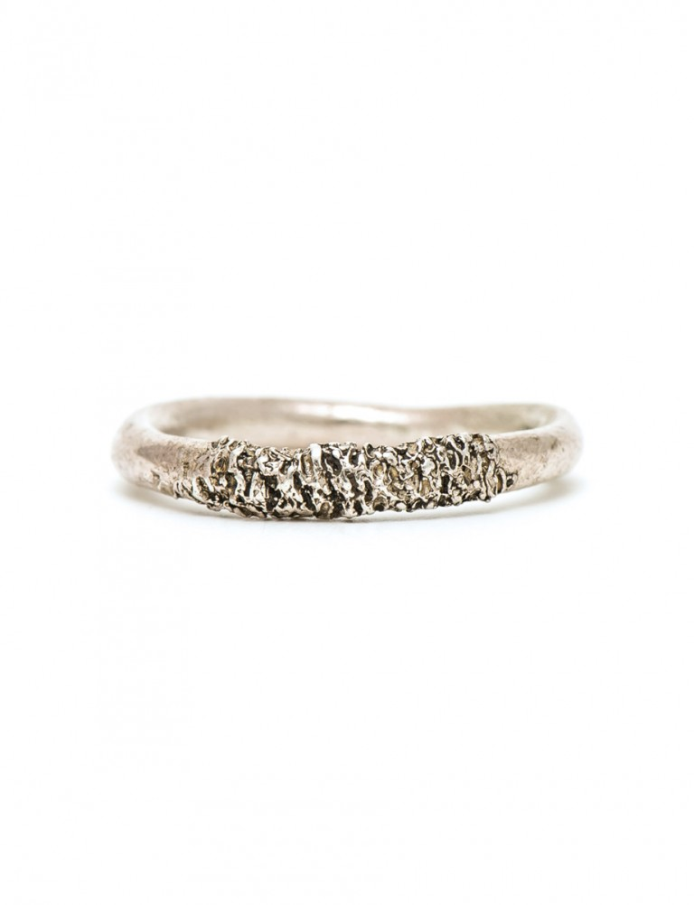 Stippled Ring – Silver