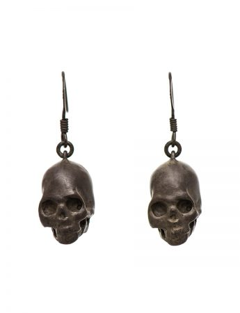 Death earrings - Oxidised Silver