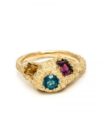 Four Gem Cluster Ring