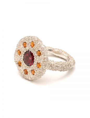 Vortex Ring – Garnet & Citrine