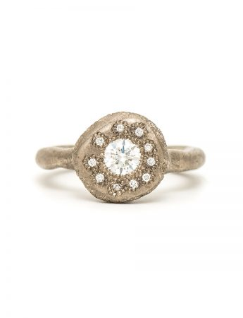 To Manifest Ring - White Gold & Diamond