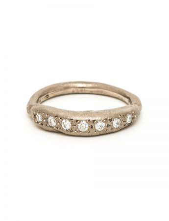 Aurora Ring – White Gold & Diamond