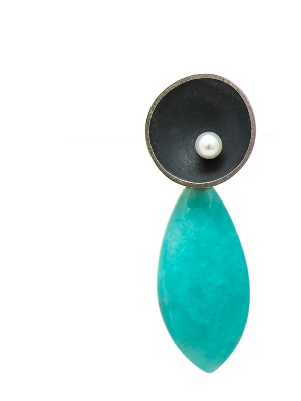 Dish Drop Earrings – Amazonite