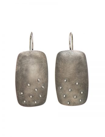 Raised Dot Rectangle Hook Earrings