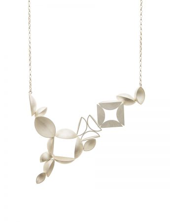 12 Piece Necklace - Bleached Silver