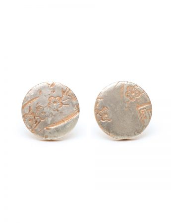 Blossom Stud Earrings - Rose Gold Plated