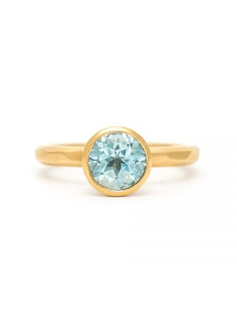 Aquamarine Ring - Yellow Gold