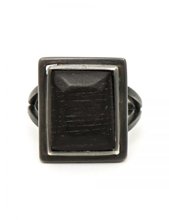 Ebony Signet Ring - Black